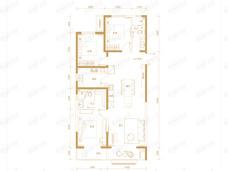 三湘印象森林海尚城3室2厅2卫户型图