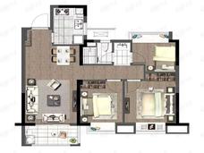 德信星宸3室2厅1卫户型图