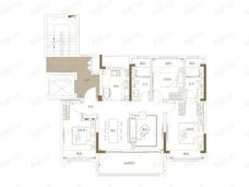 观江海3室2厅2卫户型图