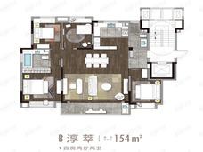 仁恒海和院4室2厅2卫户型图