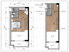 雅居乐乐活新城1室2厅2卫户型图