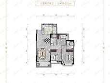 恒大滨江华府3室2厅2卫户型图