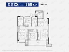 锦艺旭辉一江雲著3室2厅2卫户型图