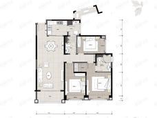 长沙星河湾3室2厅2卫户型图