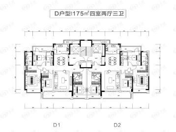 中海云鼎湖居户型图