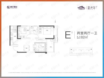 龙湖锦艺城户型图