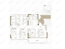 观江海4室2厅2卫户型图