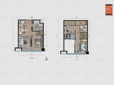万科新都会3室2厅2卫户型图