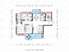 霸王花东城国际3室2厅2卫户型图