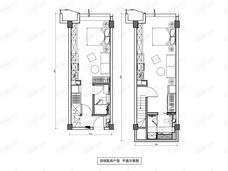 镜象西湖2室2厅2卫户型图