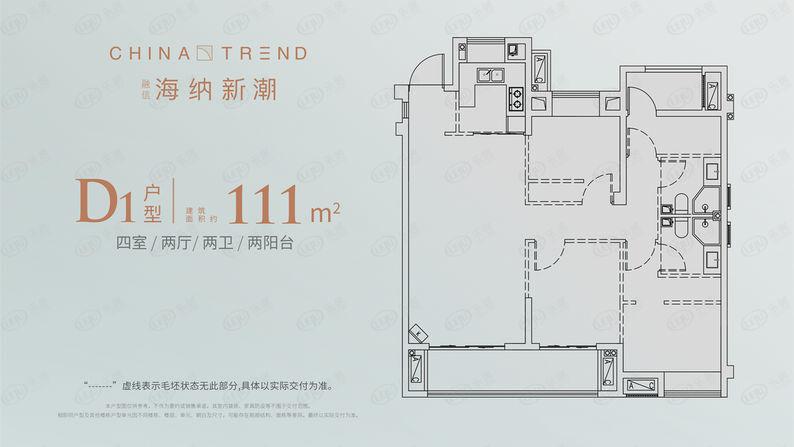 D1-111平方米户型