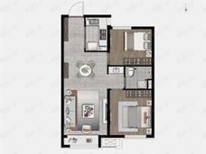 大华锦绣海岸2室2厅1卫户型图
