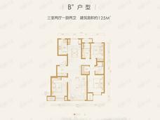 融创·湖岸壹号3室2厅2卫户型图