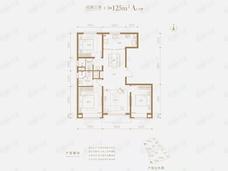 合生金茂东叁金茂府3室2厅2卫户型图