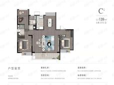 宝能滨江府3室2厅2卫户型图