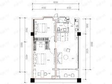 富力湾2室2厅1卫户型图
