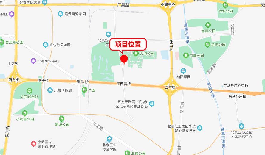 王四营地块位置图