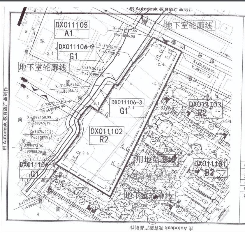 规划用地红线图
