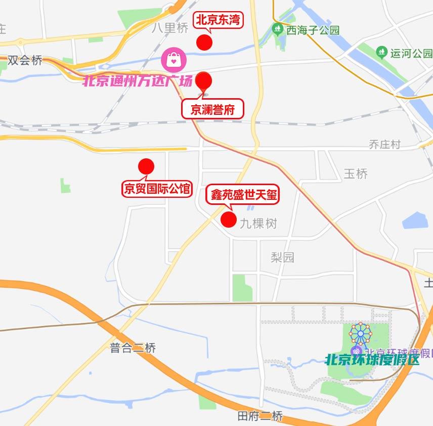 通州新盘地图