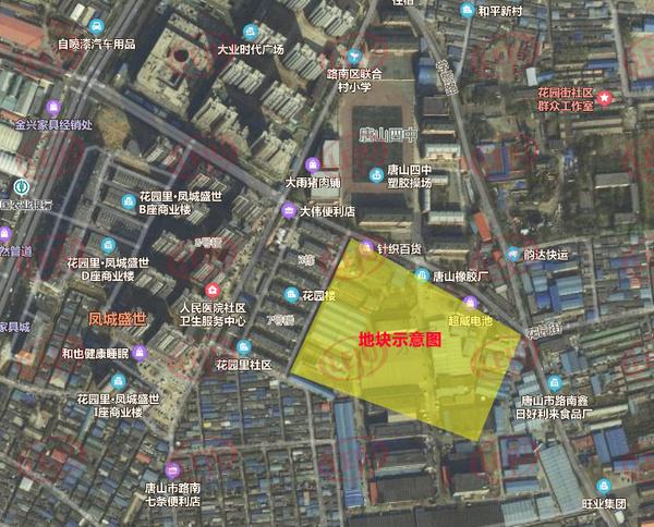 文化南北街西侧、花园道南侧A-01地块卫星图