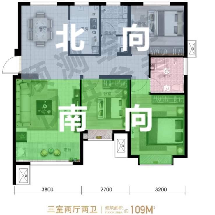 开发区经济型百平米三居