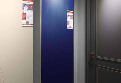 产品:克莱因蓝同色系木门 品牌:格林福木门