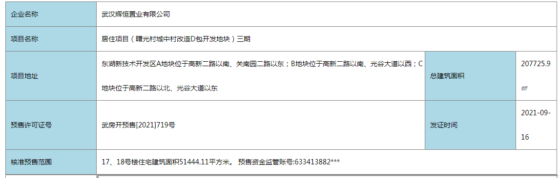 旭辉千山凌云新取预售证