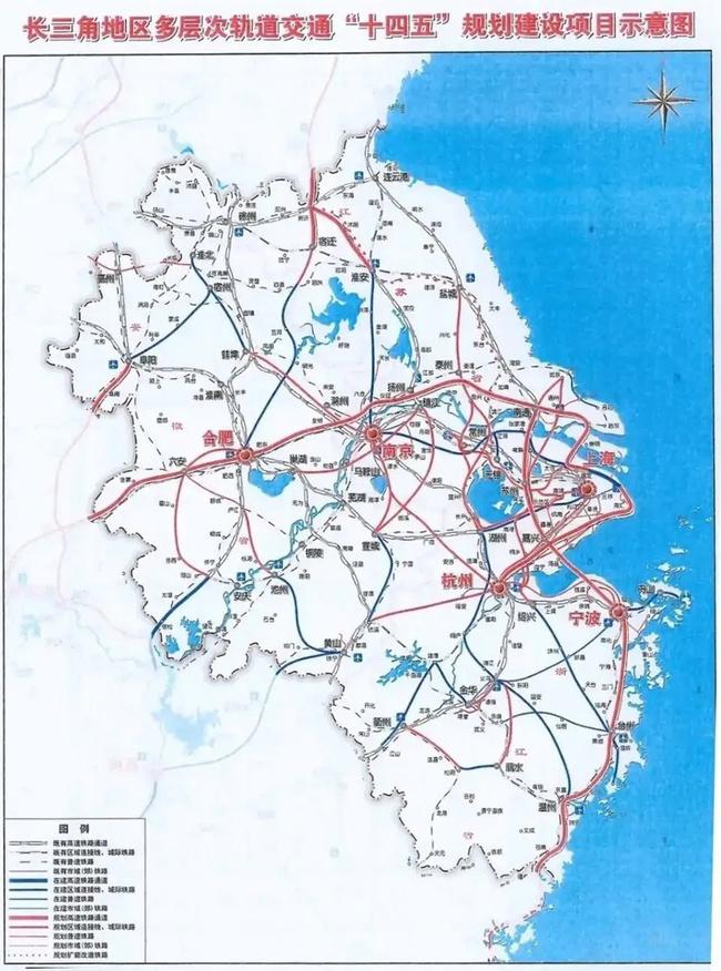 南枫线规划示意图(数据来源:长江三角洲地区多层次轨道交通规划)