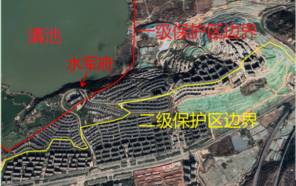 """2021年1月卫星地图显示,长腰山90%以上区域已被开发为房地产项目,长腰山变成了""""水泥山"""""""