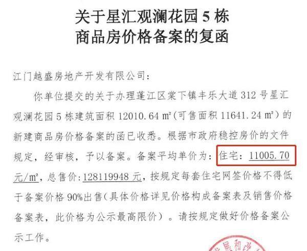 新增996套货!江门市区6盘拿证,均价高达2.08万/㎡...