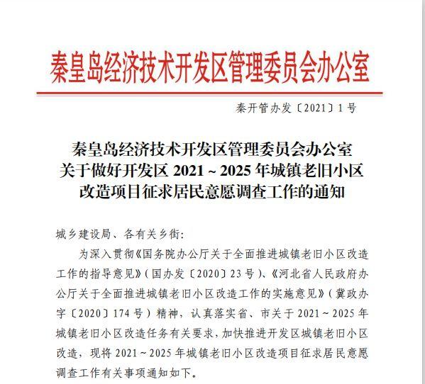 秦皇岛老旧小区改造最新消息