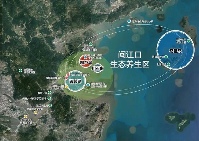 ▲闽江口生态养生区规划图