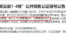开盘快讯 中签率66.15%!华鸿东潮云庭共576户登记