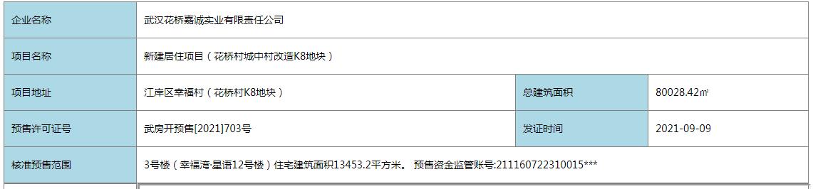 幸福湾·星语新取预售证