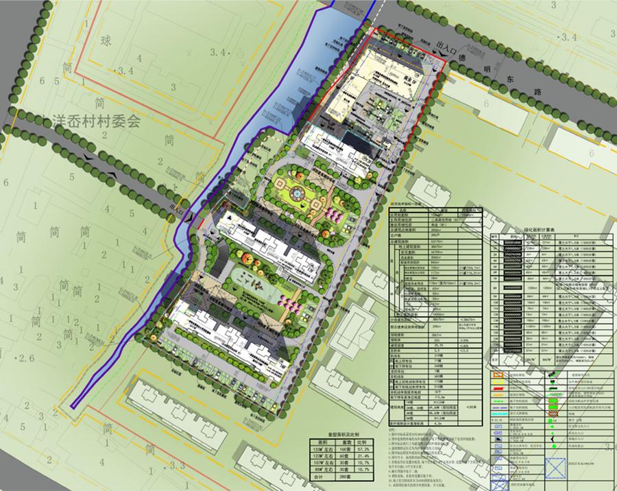 总平面图-大溪镇DX011102地块建筑方案