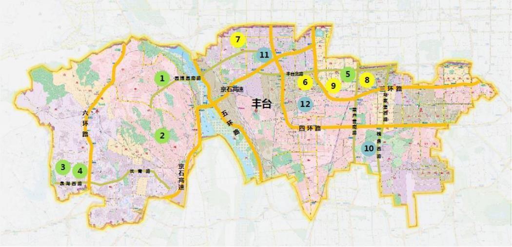 丰台拟供应住宅用地位置图