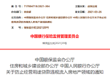 三部门发文:防止经营贷违规流入房地产领域 5月底前完成排查