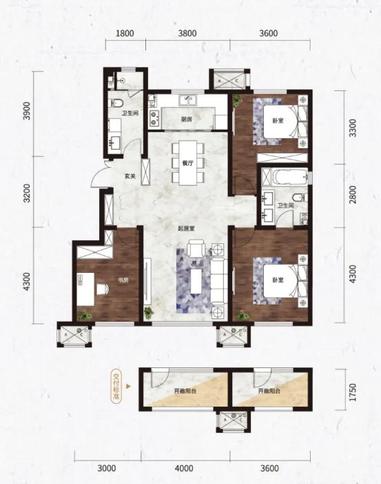 好住| 114㎡洋房户型解析:10.6米面宽 零浪费面积!