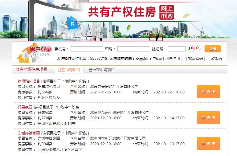 北京2400套共有产权网申
