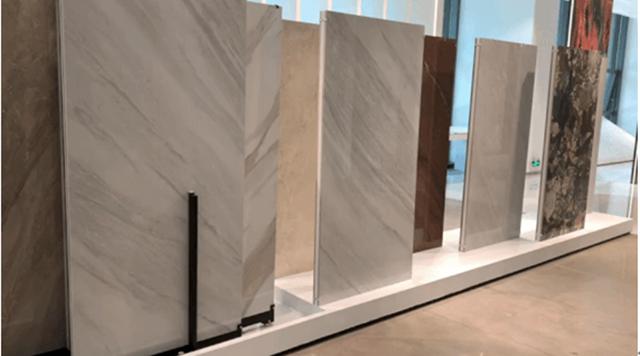 简一大理石瓷砖密缝连纹的空间效果