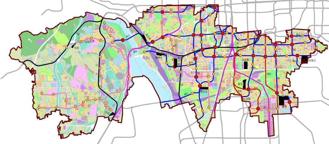 丰台重要轨道交通规划图