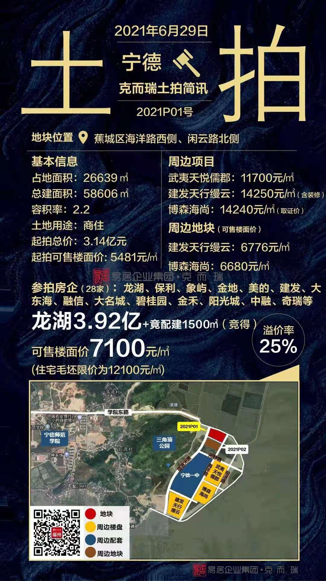 龙湖3.92亿+配建1500平住