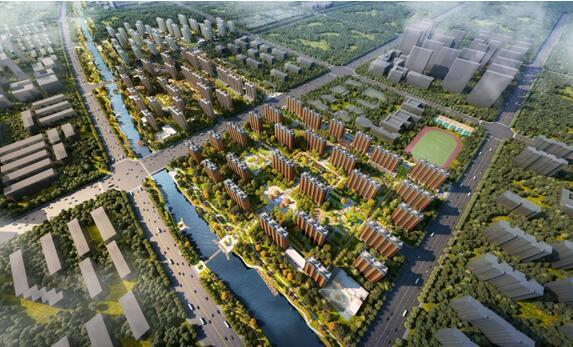 石油·海藍城(任丘)項目整體規劃鳥瞰圖