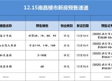 拿证速递 12月15日南昌4盘领预售  386套房源将入市
