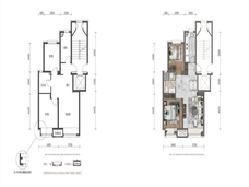 华润置地大连湾国际社区2室2厅1卫户型图