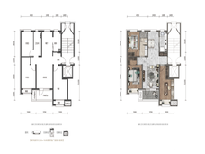华润置地大连湾国际社区3室2厅1卫户型图