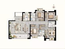 名城紫金轩4室2厅2卫户型图