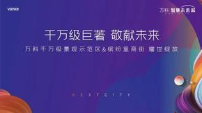 乐居直播:万科智慧未来城景观示范区及商街开放