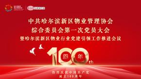 乐居直播:中共哈尔滨新区物业管理协会党员大会
